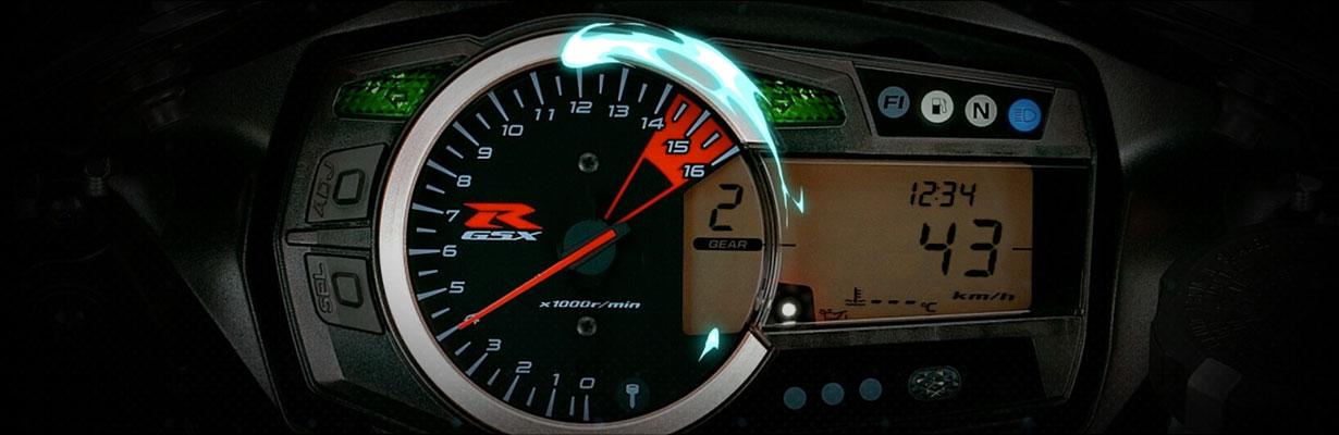 6 velocidades. Todas a la vista