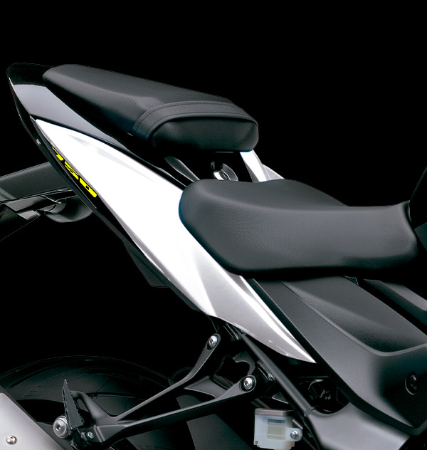 Colín y asiento trasero aerodinámicos