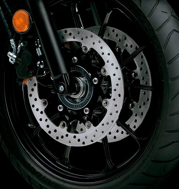 Rin de rayos y freno de disco con ABS